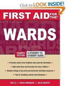 Tao Le First Aid for the Wards, fourth edition on Med Student Books