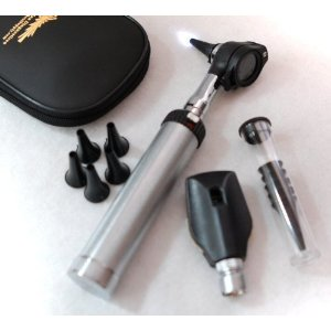 Med School Supply Fiberoptic LED Otoscope Ophthalmoscope Set